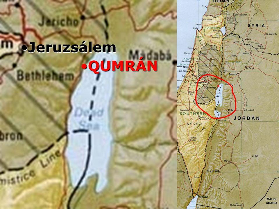 Izrael QUMRÁNQUMRÁN Jeruzsálem