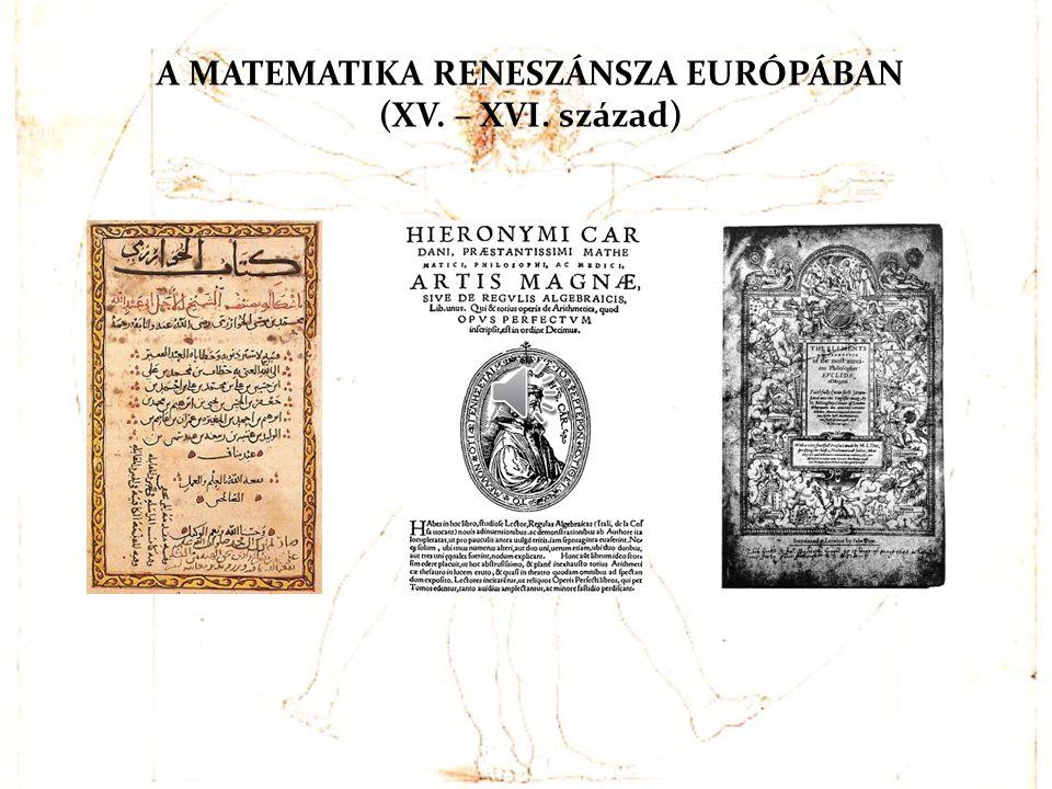 AZ ELS Ő KÖNYVEK A könyvnyomtatás feltalálásával megjelentek az els ő matematikai tárgyú nyomtatott könyvek: 1482-ben Velencében az euklidészi Elemek latin fordítása, majd Appoloniosz Konikája és Diophantosz Aritmetikája.