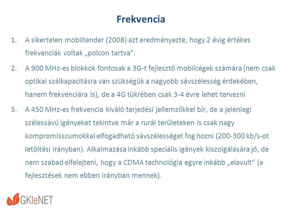 """Frekvencia 1.A sikertelen mobiltender (2008) azt eredményezte, hogy 2 évig értékes frekvenciák voltak """"polcon tartva ."""