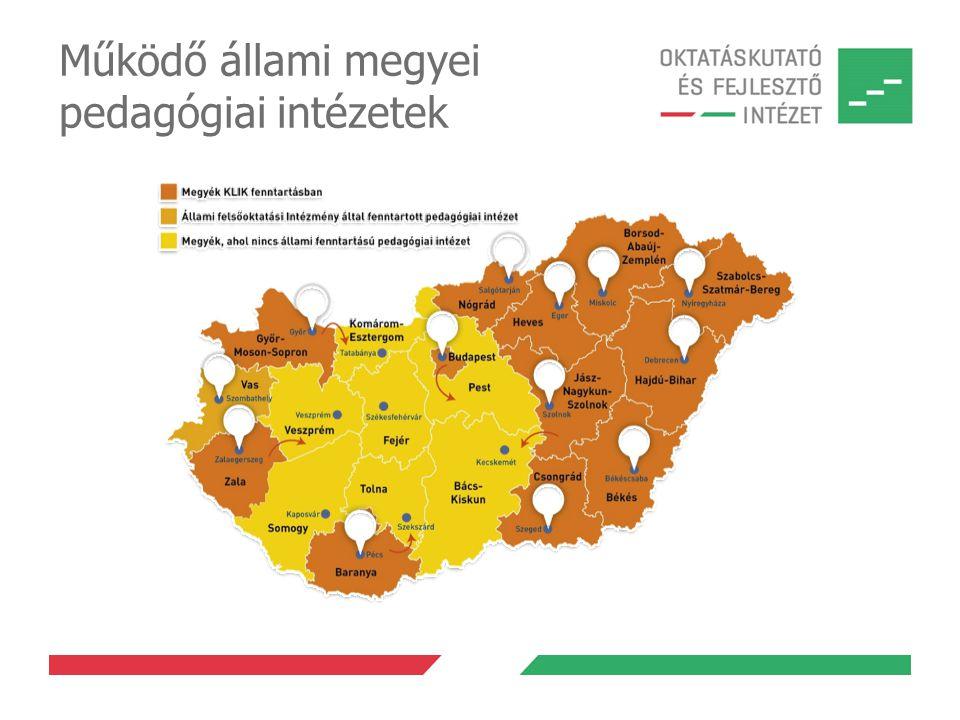 Működő állami megyei pedagógiai intézetek