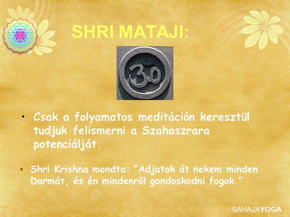 """SAHAJAYOGA SHRI MATAJI: Shri Krishna mondta: """"Adjatok át nekem minden Darmát, és én mindenről gondoskodni fogok."""" Csak a folyamatos meditáción kereszt"""