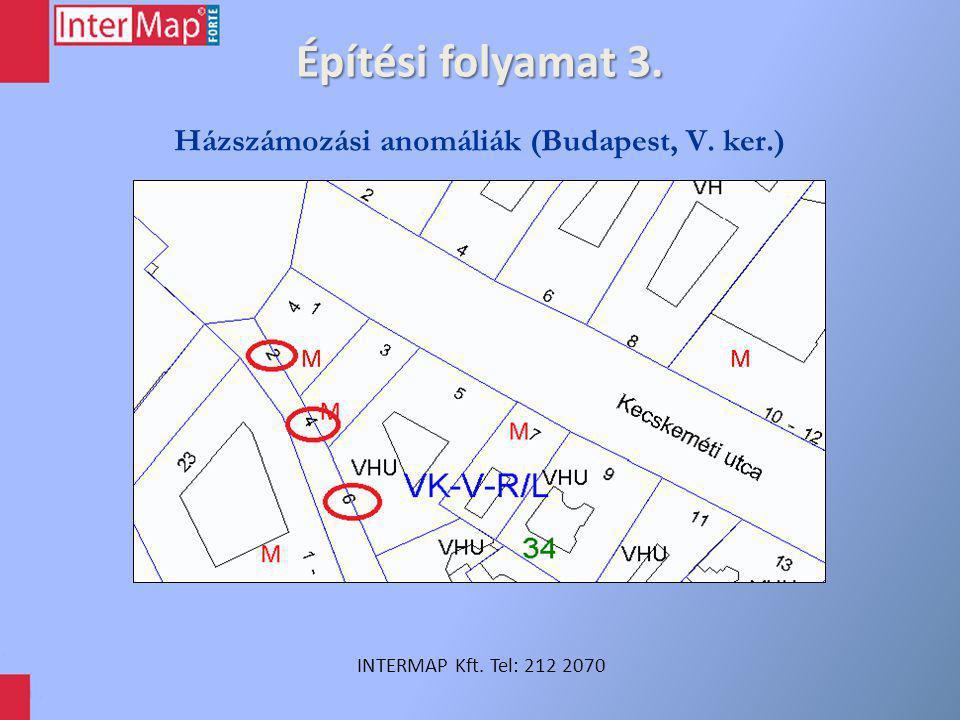 Építési folyamat 3. INTERMAP Kft. Tel: 212 2070 Házszámozási anomáliák (Budapest, V. ker.)