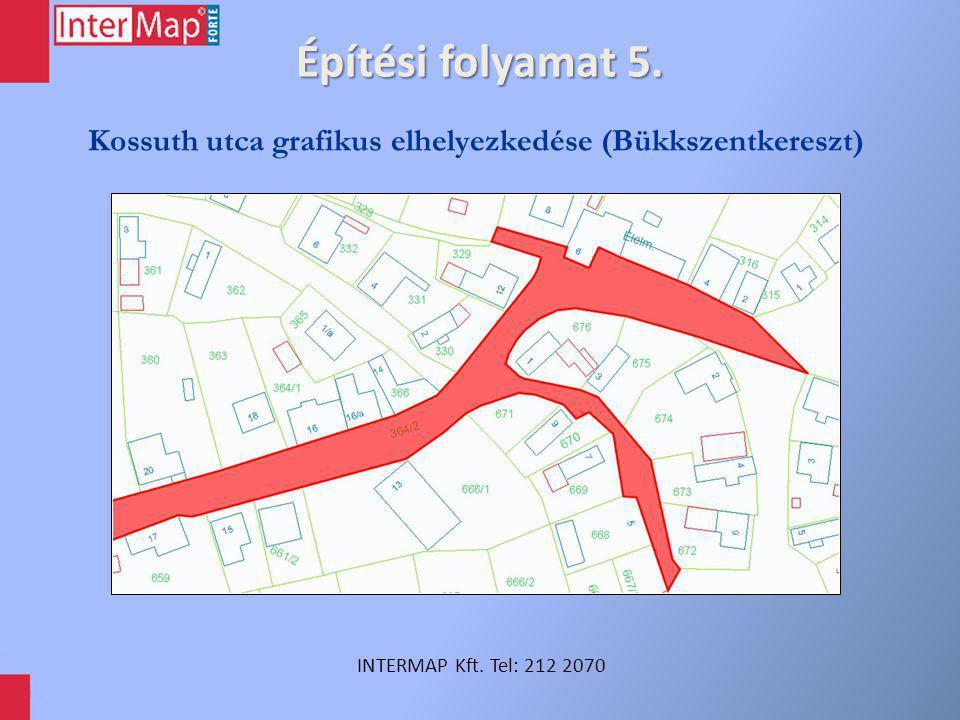 Építési folyamat 5. INTERMAP Kft. Tel: 212 2070 Kossuth utca grafikus elhelyezkedése (Bükkszentkereszt)