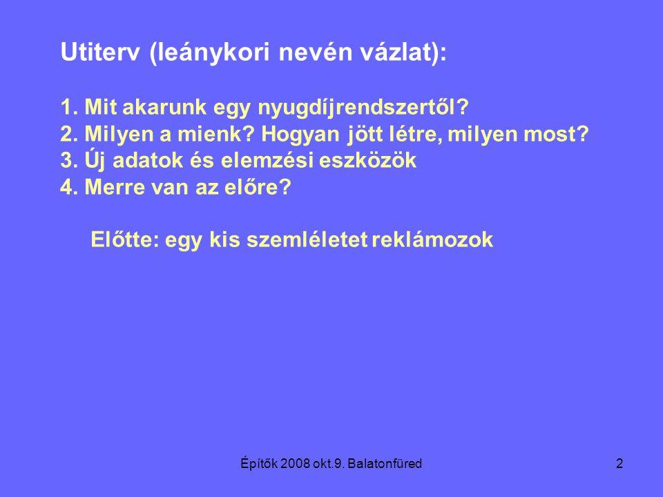 Építők 2008 okt.9. Balatonfüred2 Utiterv (leánykori nevén vázlat): 1.
