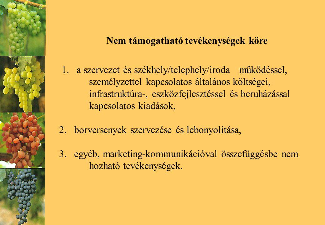 Köszönöm figyelmüket Erdősi Mária Nemzeti Bormarketing Bizottság elnök Duna Borrégió Borút Egyesület 6000 Kecskemét, Sétatér u 15/b Tel/fax: 76 504 293 E-mail: info @ magyarborutak.hu