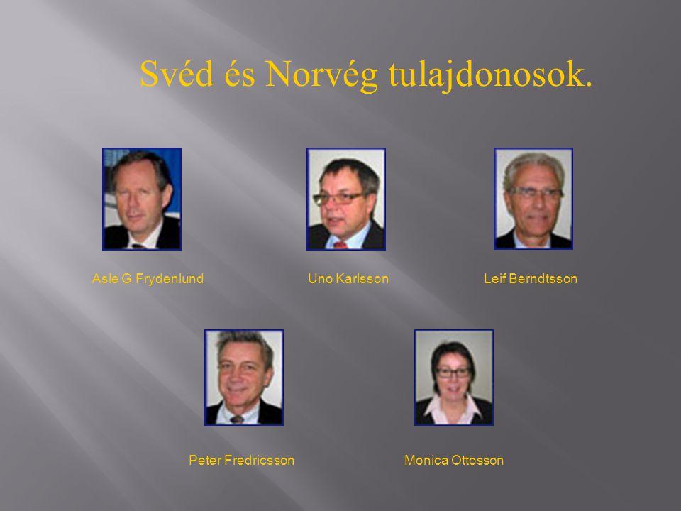 Svéd és Norvég tulajdonosok. Asle G FrydenlundUno KarlssonLeif Berndtsson Peter FredricssonMonica Ottosson