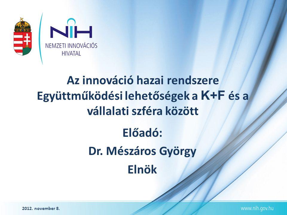 www.nih.gov.hu IKT és az innováció Az IKT a globalizált világ valamennyi fejlett országának alapinfrastruktúrája, és a legfontosabb hajtómotor a tudásalapú gazdaság fejlesztésében.