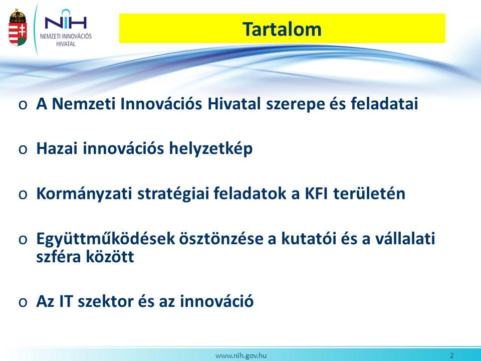 www.nih.gov.hu IKT K+F+I bázisok Magyarországon 1.