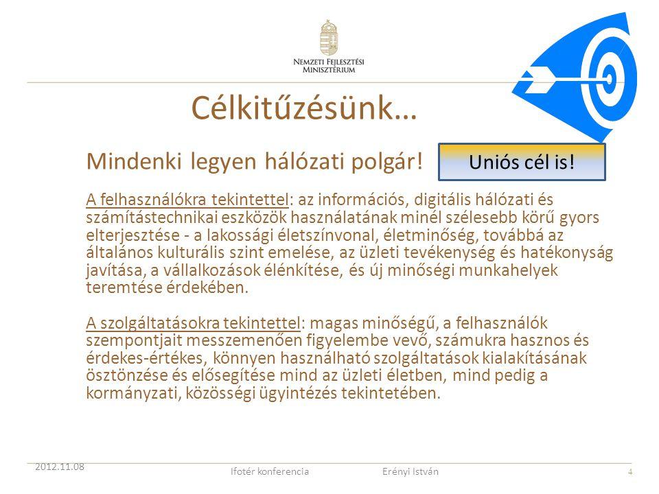 4 Célkitűzésünk… Mindenki legyen hálózati polgár! A felhasználókra tekintettel: az információs, digitális hálózati és számítástechnikai eszközök haszn