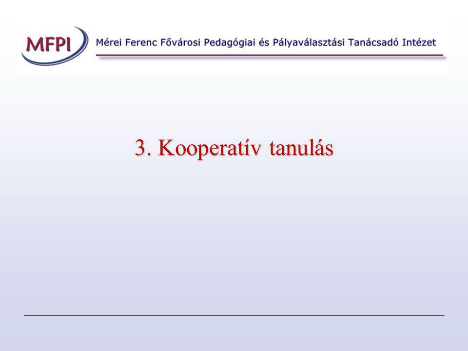 3. Kooperatív tanulás