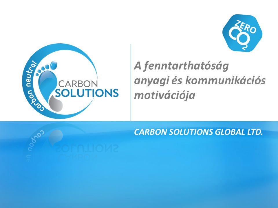 A fenntarthatóság anyagi és kommunikációs motivációja CARBON SOLUTIONS GLOBAL LTD.
