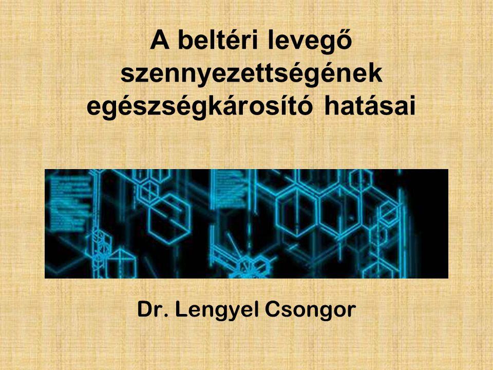 A beltéri levegő szennyezettségének egészségkárosító hatásai Dr. Lengyel Csongor