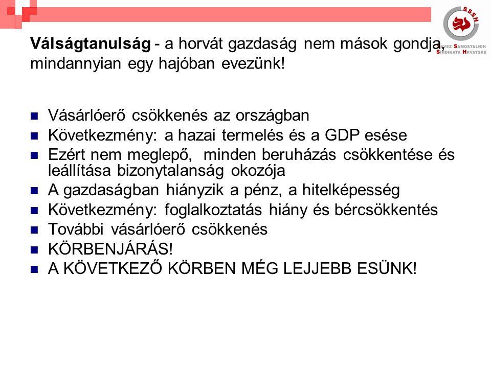 Válságtanulság - a horvát gazdaság nem mások gondja, mindannyian egy hajóban evezünk.