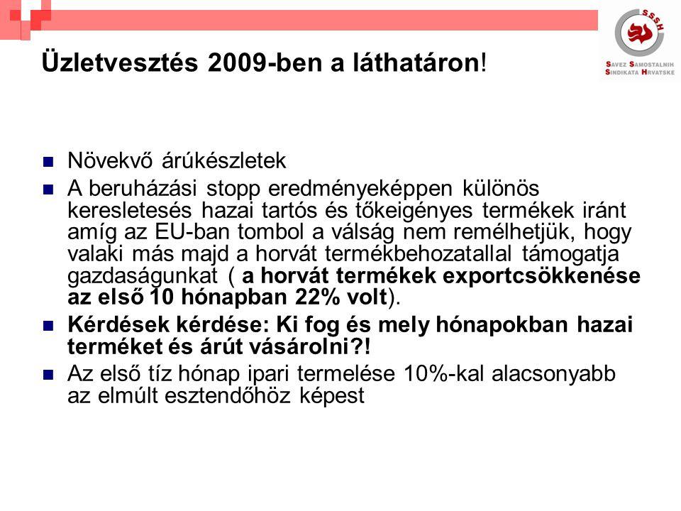 Üzletvesztés 2009-ben a láthatáron.
