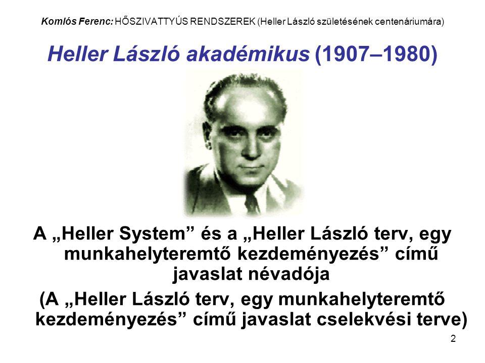 3 Komlós Ferenc: HŐSZIVATTYÚS RENDSZEREK (Heller László születésének centenáriumára) KÖNYVBORÍTÓ