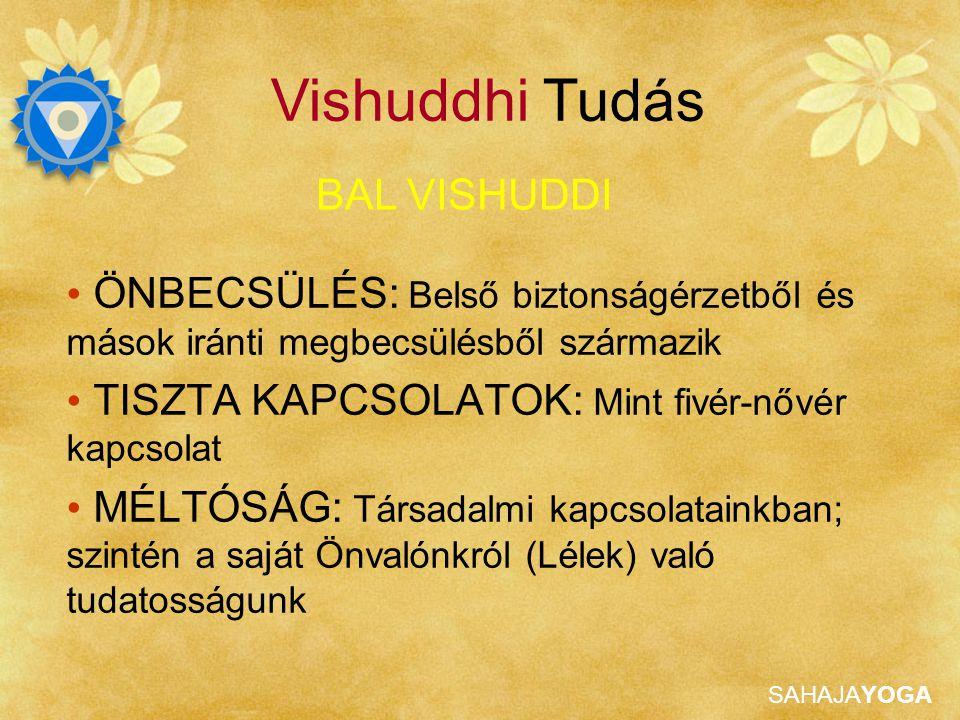 SAHAJAYOGA ISTENSÉGEK A jobb Vishuddi-t Shri Yesoda képviseli, Shri Krishna nevelő anyja JOBB VISHUDDI