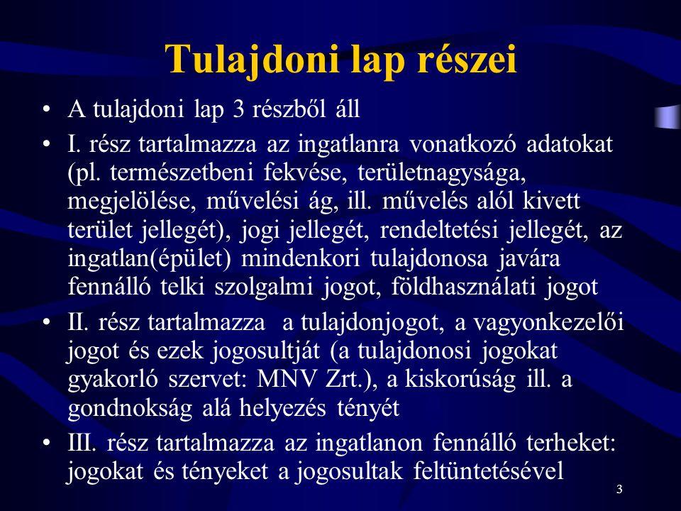 4 AZ INGATLAN-NYILVÁNTARTÁS EGYÉB RÉSZEI Okirattár (Inytv.