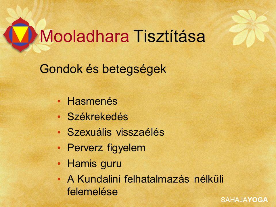 SAHAJAYOGA Mooladhara Tisztítása Gondok és betegségek Hasmenés Székrekedés Szexuális visszaélés Perverz figyelem Hamis guru A Kundalini felhatalmazás