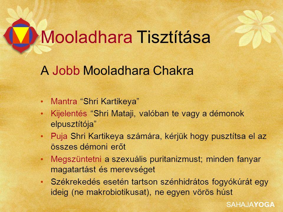 """SAHAJAYOGA Mooladhara Tisztítása A Jobb Mooladhara Chakra Mantra """"Shri Kartikeya"""" Kijelentés """"Shri Mataji, valóban te vagy a démonok elpusztítója"""" Puj"""