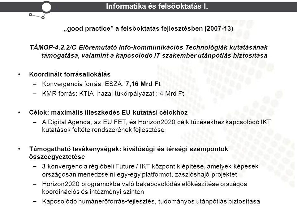 Cohesion Policy NEFMI TPF Informatika és felsőoktatás I.