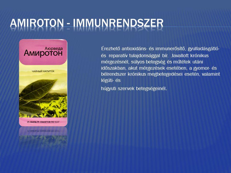Érezhető antioxidáns- és immunerősítő, gyulladásgátló- és reparatív tulajdonsággal bír.