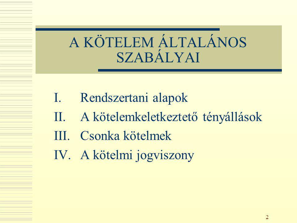 103 A) Az akaratban fellelhető megtámadási okok a) Tévedés (Ptk.