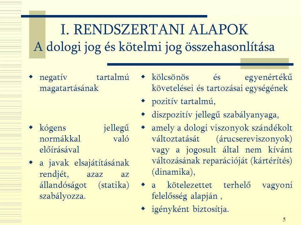 116 2.) Módosulás a szerződés tárgyában Alternativ obligatio: Ptk.