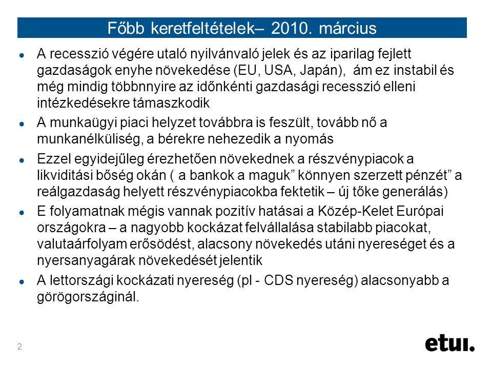 2 Főbb keretfeltételek– 2010.