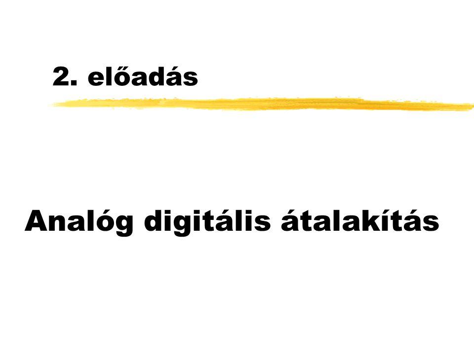 2. előadás Analóg digitális átalakítás