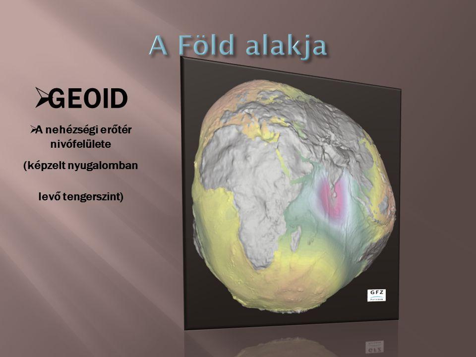 GGEOID AA nehézségi erőtér nivófelülete (képzelt nyugalomban levő tengerszint)