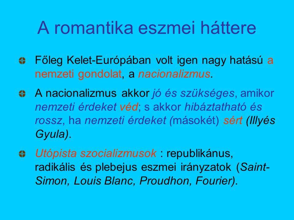 Főleg Kelet-Európában volt igen nagy hatású a nemzeti gondolat, a nacionalizmus. A nacionalizmus akkor jó és szükséges, amikor nemzeti érdeket véd; s