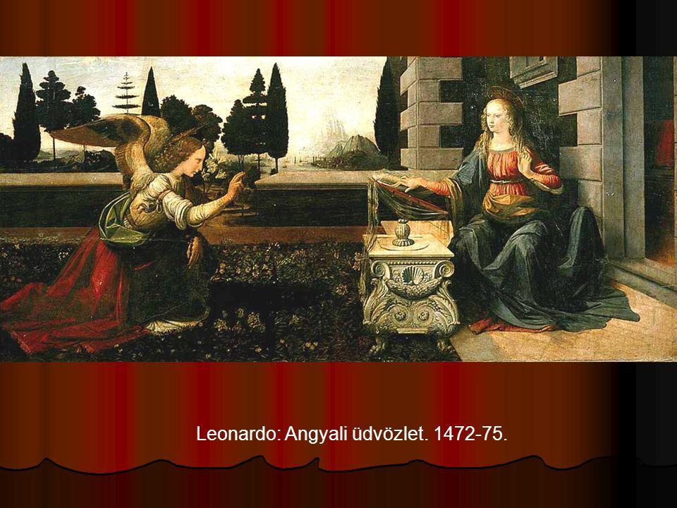 Leonardo: Angyali üdvözlet. 1472-75.