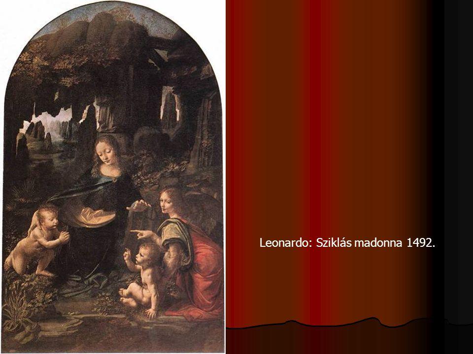 Leonardo: Sziklás madonna 1492.
