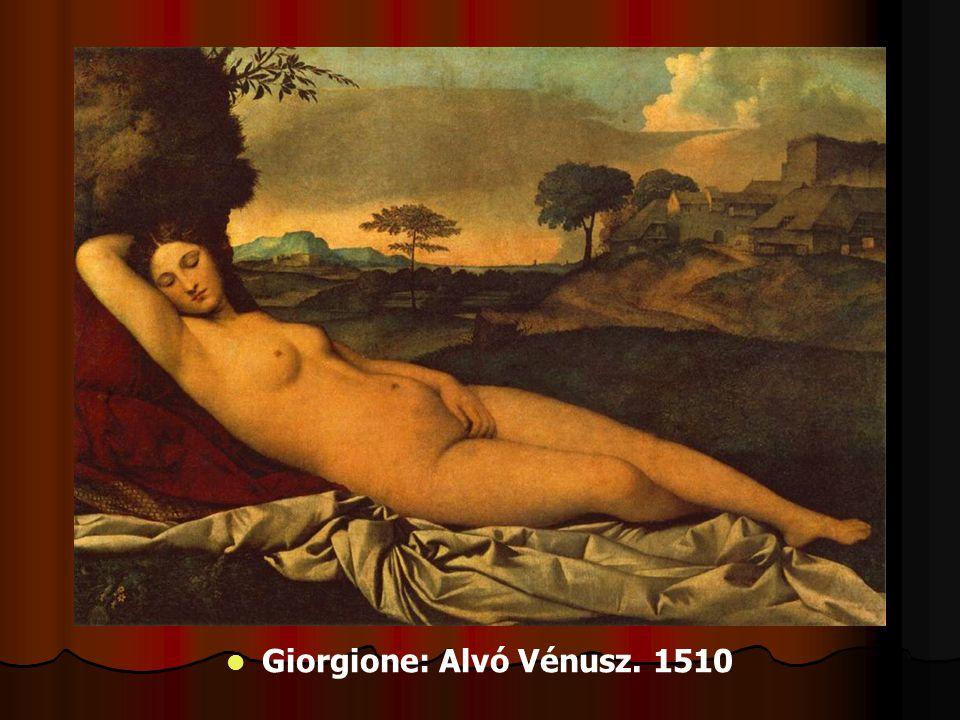 Giorgione: Alvó Vénusz. 1510