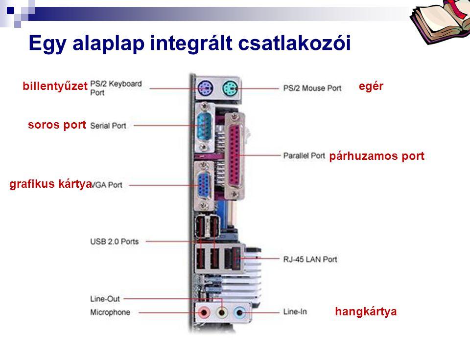 Bóta Laca Egy alaplap integrált csatlakozói egérbillentyűzet hangkártya soros port párhuzamos port grafikus kártya