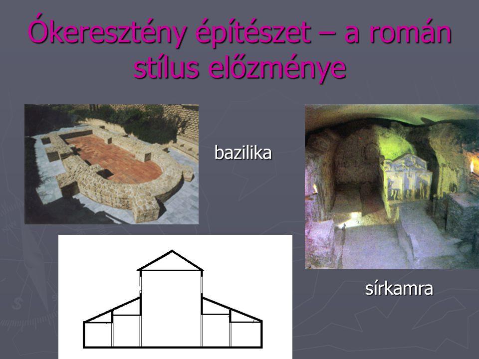A középkorra jellemző építészeti stílusok ► A román stílus ► A védekező egyház eszméjét fejezi ki. ► Nem csupán azt jelzi, hogy az egyház védekezik a