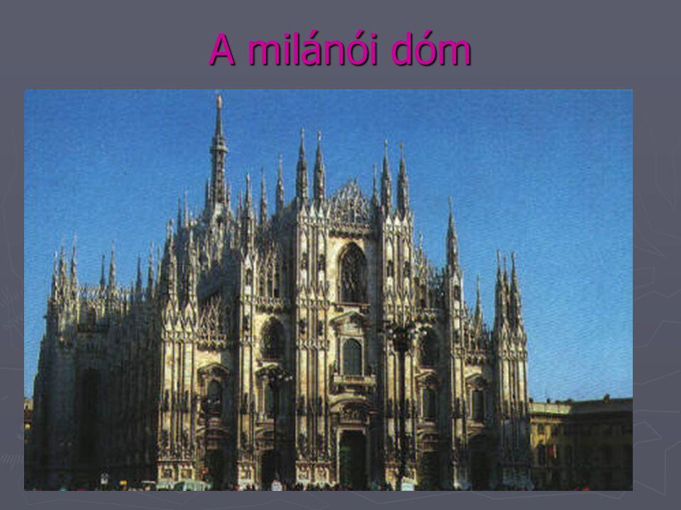 A középkor építészete: Gótika ► A gótika (=barbár) stílus (1250-1500) jellemzői:  csipkeszerűen áttört, magas falak, égbenyúló tornyok  karcsú pillé