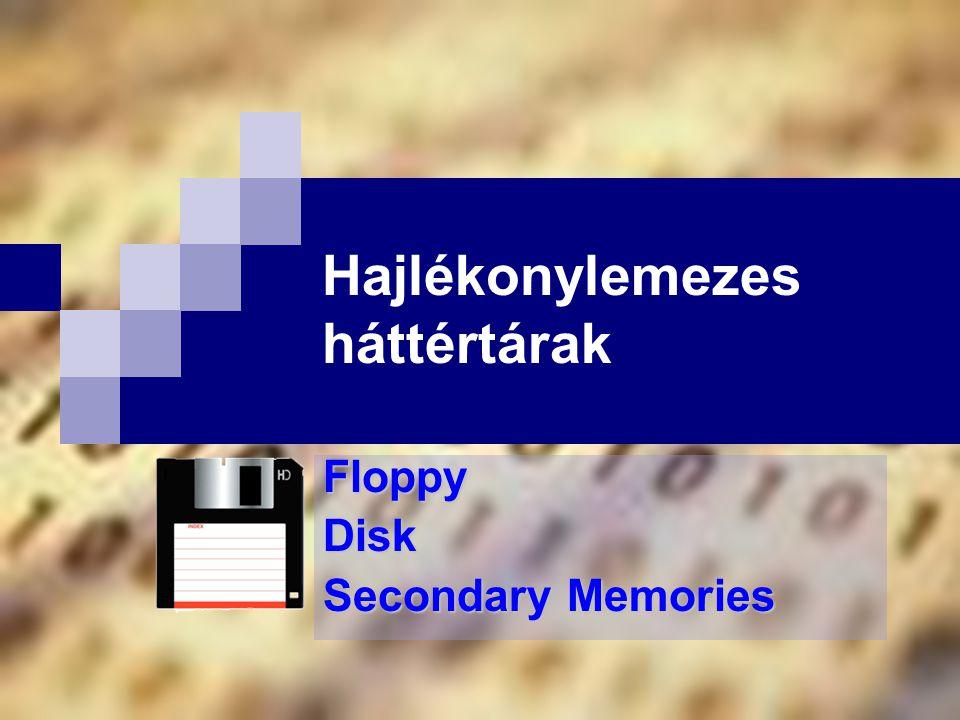 Hajlékonylemezes háttértárak FloppyDisk Secondary Memories