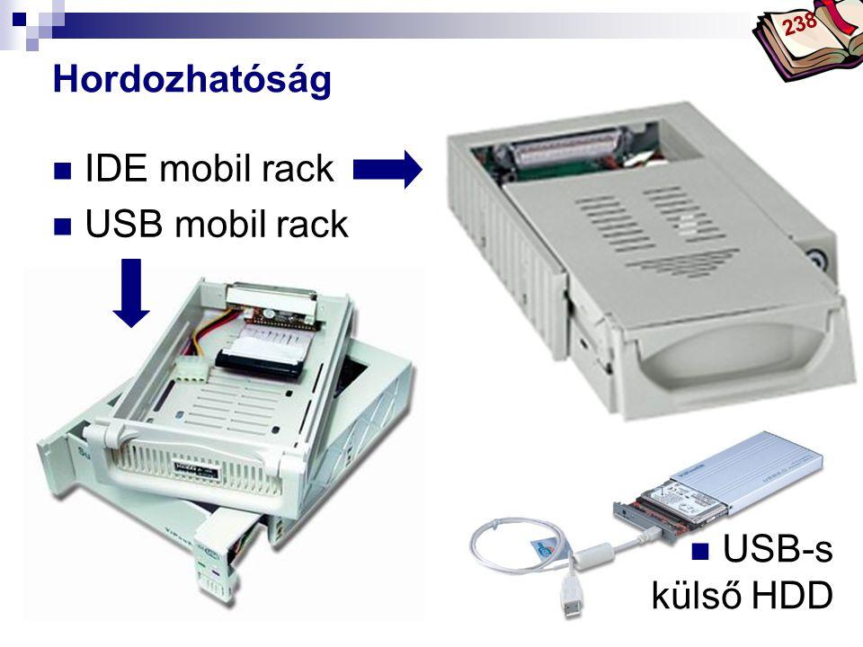 Bóta Laca Hordozhatóság IDE mobil rack USB mobil rack 238 USB-s külső HDD
