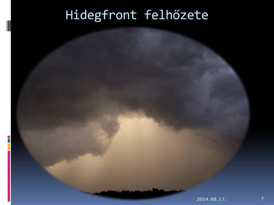Hidegfront felhőzete 2014. 08. 17. 7