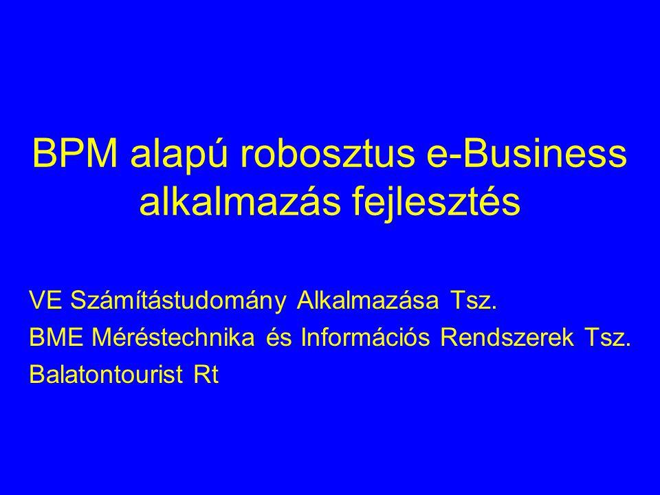 BPM alapú robosztus e-Business alkalmazás fejlesztés VE Számítástudomány Alkalmazása Tsz.