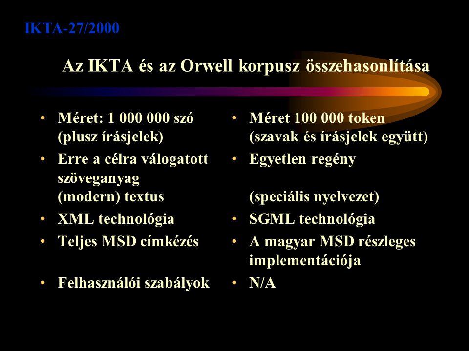 A magyar tanulási adatbázis Az 1997-ben készült ún.