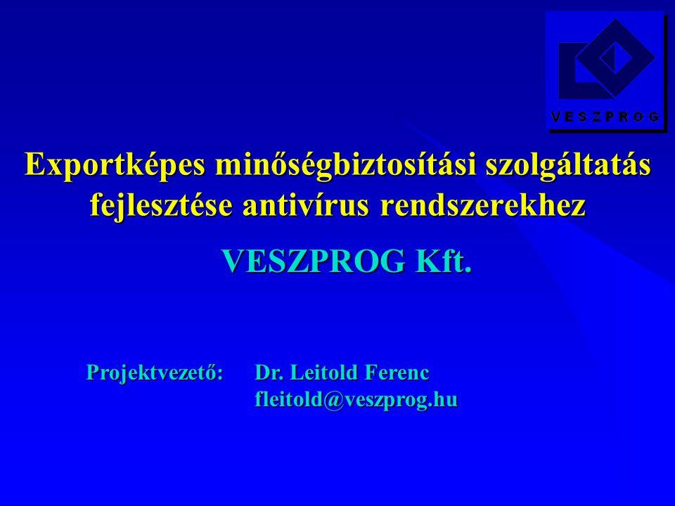 Exportképes minőségbiztosítási szolgáltatás fejlesztése antivírus rendszerekhez VESZPROG Kft.