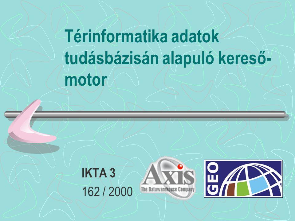 Térinformatika adatok tudásbázisán alapuló kereső- motor IKTA 3 162 / 2000