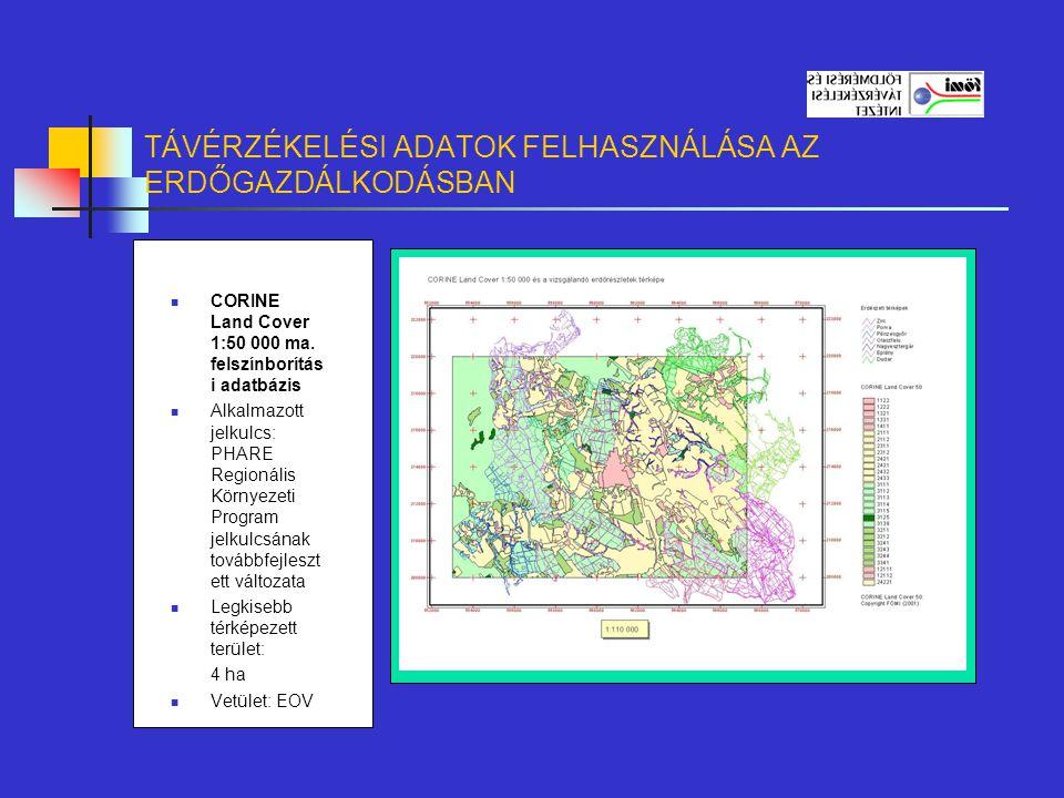 CORINE Land Cover 1:50 000 ma. felszínborítás i adatbázis Alkalmazott jelkulcs: PHARE Regionális Környezeti Program jelkulcsának továbbfejleszt ett vá