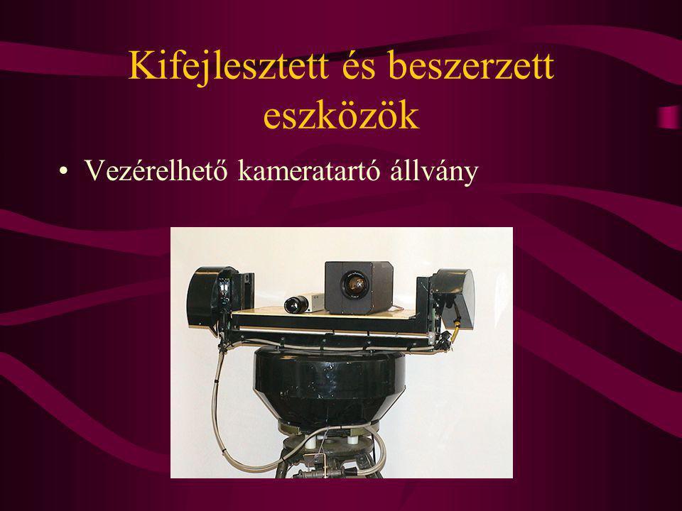 Kifejlesztett és beszerzett eszközök Vezérelhető kameratartó állvány