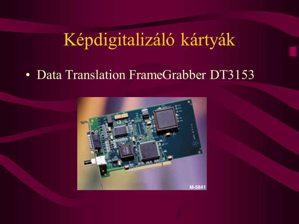 Képdigitalizáló kártyák Data Translation FrameGrabber DT3153
