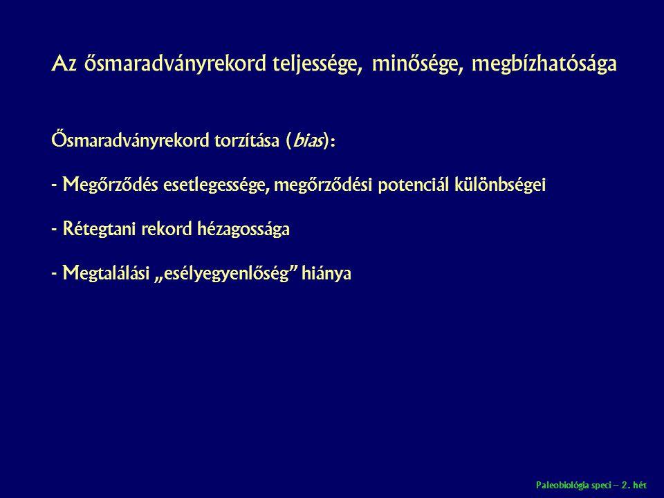 Paleobiológia speci – 2.