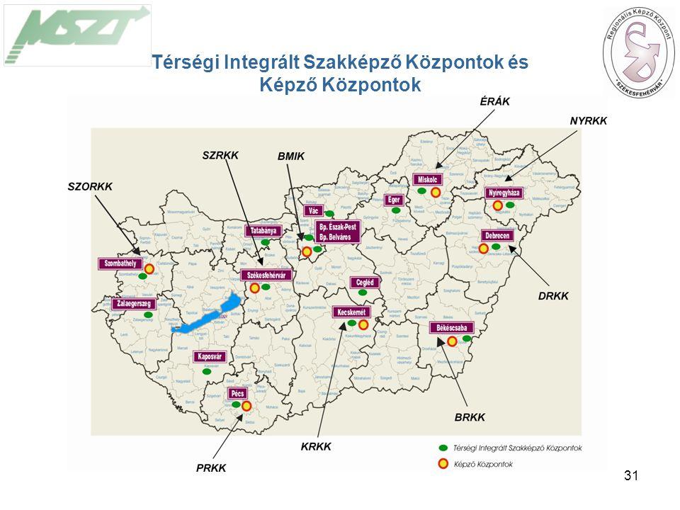 31 Térségi Integrált Szakképző Központok és Képző Központok