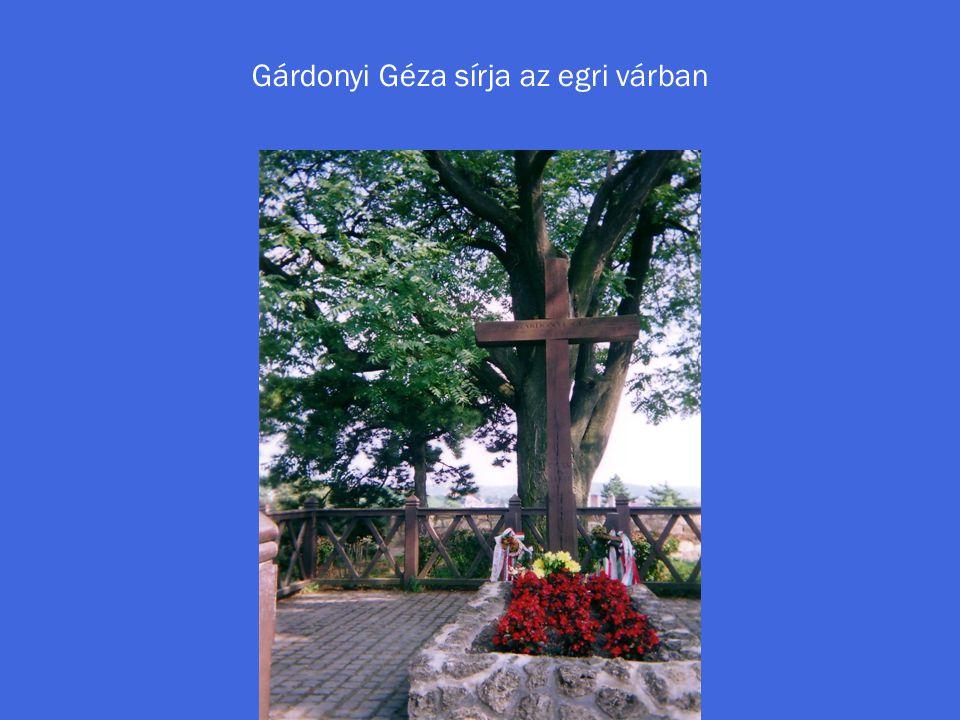 Gárdonyi Géza sírja az egri várban